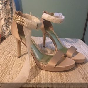 Satin Strappy Stilettos Size 11